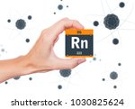 radon element symbol handheld... | Shutterstock . vector #1030825624