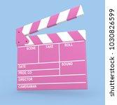 cartoon pink cinema movie... | Shutterstock . vector #1030826599