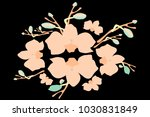 abstract orchid pattern. gentle ... | Shutterstock .eps vector #1030831849
