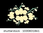abstract orchid pattern. gentle ... | Shutterstock .eps vector #1030831861
