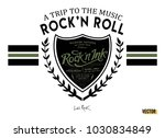 rock'n roll slogan typography... | Shutterstock .eps vector #1030834849