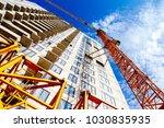 building under construction.... | Shutterstock . vector #1030835935