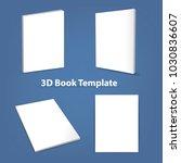 3d blank book template vector   Shutterstock .eps vector #1030836607