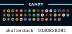candy flat icons set. vector... | Shutterstock .eps vector #1030838281