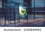 honeymoon advertising poster on ... | Shutterstock . vector #1030840981