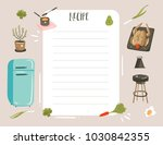 hand drawn vector abstract... | Shutterstock .eps vector #1030842355