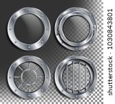 silver porthole vector. round... | Shutterstock .eps vector #1030843801