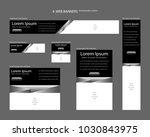 six web banners standard sizes...