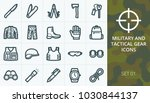 tactical gear and military... | Shutterstock .eps vector #1030844137