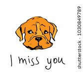 i miss you color vector... | Shutterstock .eps vector #1030849789