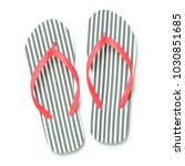 Stripe Flip Flops Isolated On...