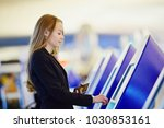 young woman in international... | Shutterstock . vector #1030853161
