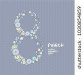 elegant floral greeting card... | Shutterstock .eps vector #1030854859
