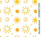 seamless pattern with hand... | Shutterstock .eps vector #1030857205