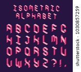 isometric color capital letters ... | Shutterstock .eps vector #1030857259