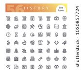 Set Of 56 History Line Icons...