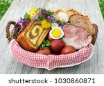 easter traditional food with... | Shutterstock . vector #1030860871