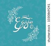 vector happy easter eggs...   Shutterstock .eps vector #1030869241