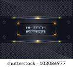 hi tech metallic background... | Shutterstock .eps vector #103086977