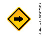 road signs vector | Shutterstock .eps vector #1030870015
