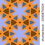 seamless pattern morrocan...   Shutterstock .eps vector #1030870324