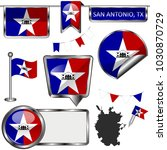 vector glossy icons of flag of... | Shutterstock .eps vector #1030870729