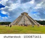 chichen itza mexico january 28... | Shutterstock . vector #1030871611