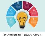 bulb infographic illustrator | Shutterstock .eps vector #1030872994