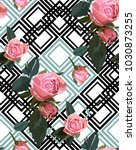 floral seamless background... | Shutterstock .eps vector #1030873255