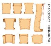 ancient paper scrolls set ... | Shutterstock .eps vector #1030877905