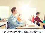 education  learning and people... | Shutterstock . vector #1030885489