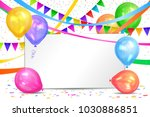 happy birthday design.... | Shutterstock . vector #1030886851