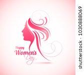 happy women's day celebration...   Shutterstock .eps vector #1030888069
