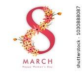 happy women's day celebration... | Shutterstock .eps vector #1030888087