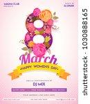 happy women's day celebration...   Shutterstock .eps vector #1030888165