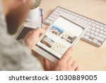 minsk  belarus  february 10 ... | Shutterstock . vector #1030889005