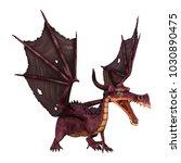 3d rendering of a fantasy... | Shutterstock . vector #1030890475