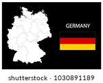 map and national flag of... | Shutterstock .eps vector #1030891189
