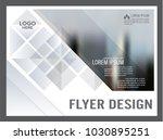 black and white flyer design...   Shutterstock .eps vector #1030895251