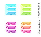 letter e colorful logotype with ... | Shutterstock .eps vector #1030903615