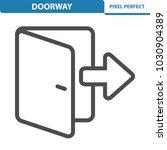 doorway icon. professional ... | Shutterstock .eps vector #1030904389