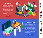 science horizontal isometric... | Shutterstock .eps vector #1030913209