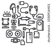 illustration of concept... | Shutterstock .eps vector #1030916401