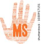 multiple sclerosis word cloud... | Shutterstock .eps vector #1030917151