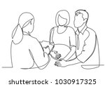 one continuous drawn line... | Shutterstock .eps vector #1030917325