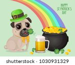 saint patricks day card with a...