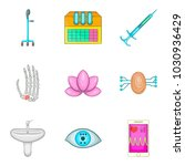 medical advice icons set.... | Shutterstock .eps vector #1030936429