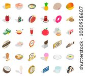 diet nourishment icons set.... | Shutterstock .eps vector #1030938607