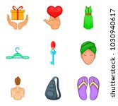 amour icons set. cartoon set of ... | Shutterstock .eps vector #1030940617