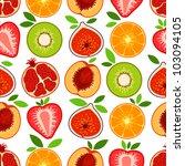 vector mixed fruit pattern | Shutterstock .eps vector #103094105